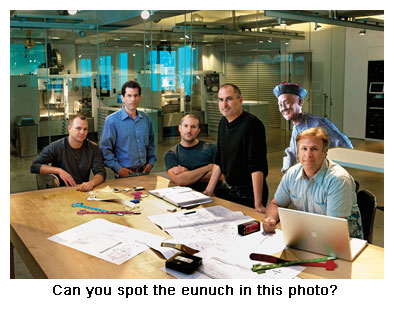 Pictures of Eunuchs http://crazyapplerumors.com/2006/01/25/apple-employs-over-1000-eunuchs/